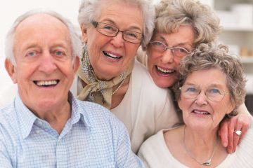 Group of older people's get together